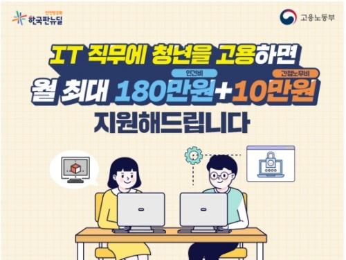 청년 디지털 일자리 지원사업 홍보 포스터.