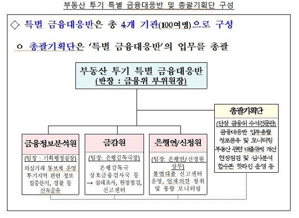 부동산 투기 특별 금융대응반 및 총괄기획단