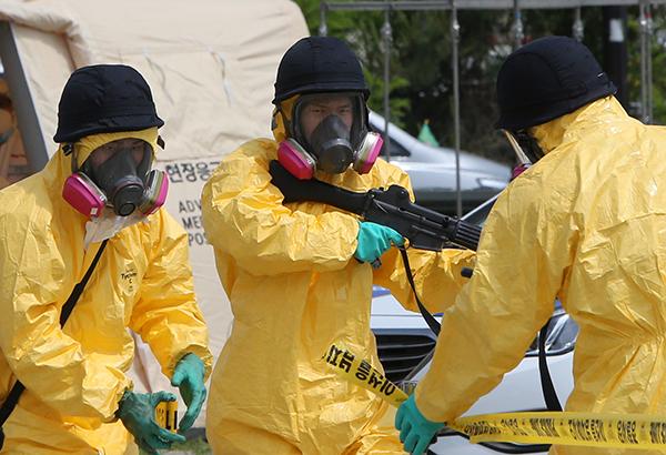 2019년 5월에 실시한 '2019 을지태극연습'에서 화학테러를 가장한 다중이용시설 테러 대비 합동훈련을 실시하고 있다.