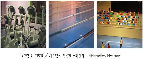 <그림 4> SPORTe2 시스템이 적용된 스페인의 'Polideportivo Etxebarri'