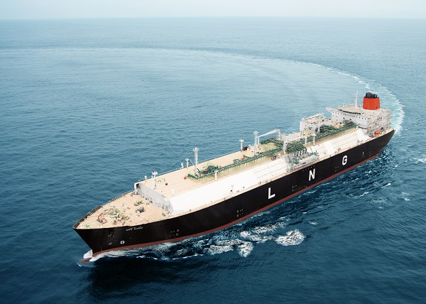 현대삼호중공업이 2009년 3월 인도한 LNG선 벤바디스(BEN BADIS)호. (사진=저작권자(c) 연합뉴스, 무단 전재-재배포 금지)