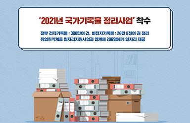 '2021년 국가기록물 정리사업' 착수