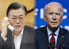 문재인 대통령(왼쪽)과 조 바이든 미국 대통령