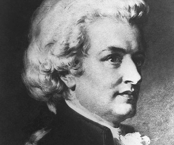 오스트리아의 작곡가인 볼프강 아마데우스 모차르트.