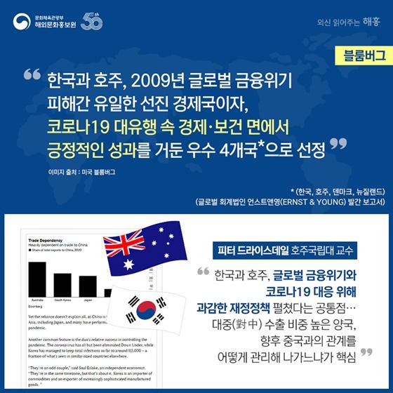 방역 성공과 강력한 반도체 수출, 지난해 한국의 경제 성장률이  소폭 후퇴(-1%)에 그치는 데 도움
