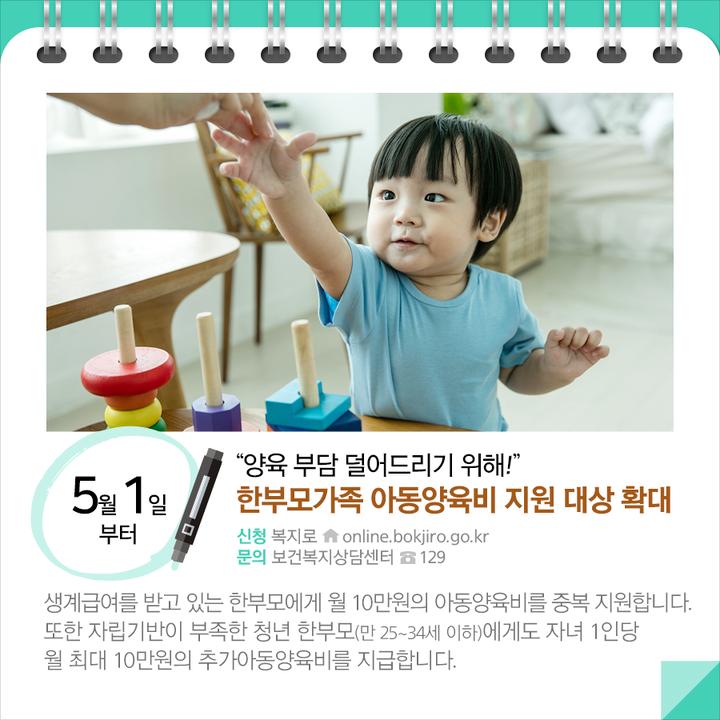 한부모가족 아동양육비 지원 대상 확대