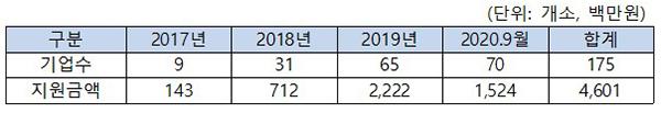 사업보고서 미제출 예비사회적기업 지원현황