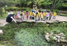 산림교육센터에서 유아를 대상으로 진행하는 '와~숲 유아체험' 모습.(사진=산림청)