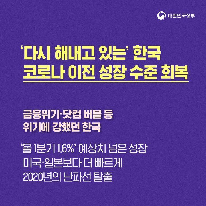 '다시 해내고 있는' 한국 코로나 이전 성장 수준 회복