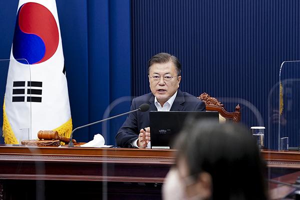 문재인 대통령이 11일 오전 청와대에서 열린 제20회 국무회의에서 발언하고 있다. (사진=청와대)