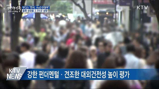 무디스, 한국 신용등급 'Aa2, 안정적' 유지