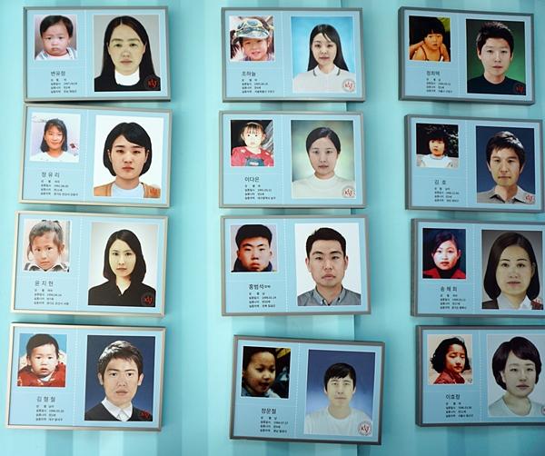 얼굴 나이변환을 접목해 추청한 사진들.