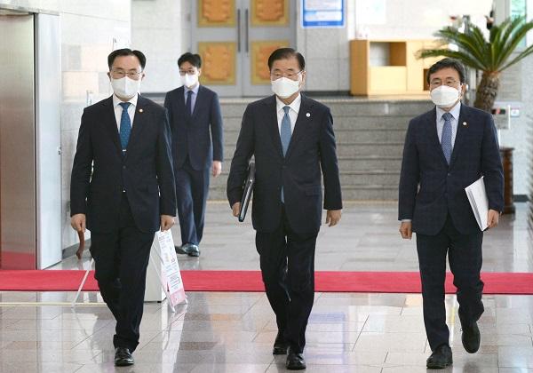 한미정상회담 성과 브리핑 3개 부처 장관