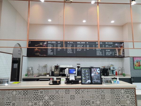 커피숍. 북한이탈주민이 운영하고 있다.