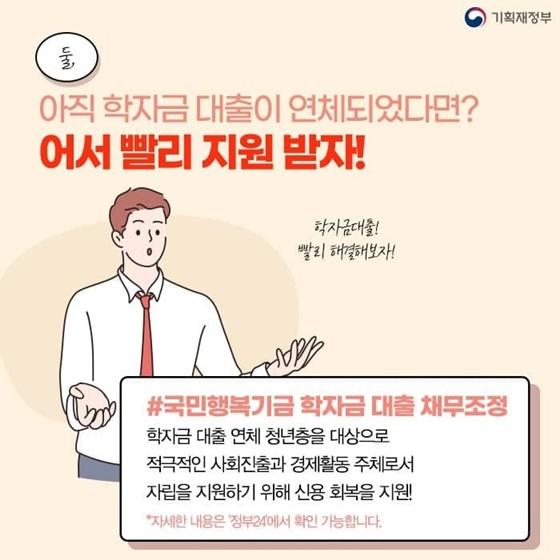 국민행복기금 학자금 대출 채무조정