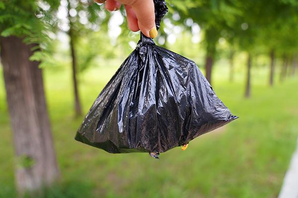 쓰레기를 담은 비닐봉지