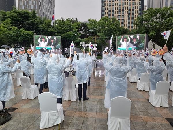 610만세운동 첫 기념식 현장