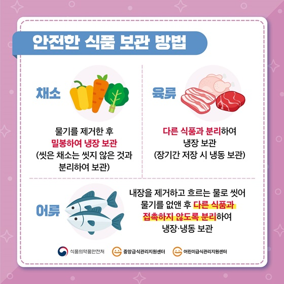 안전한 식품 보관 방법