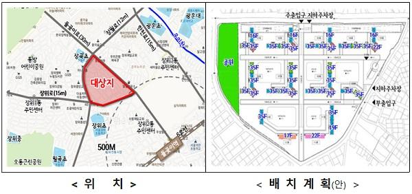 성북구 장위9 공공재개발(8만 5878㎡, 소유자 670인 → 공공재개발 2434세대)