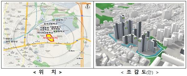 중랑구 망우1 공공재건축(2만 5109㎡, 소유자 268인 → 공공건축 481세대)