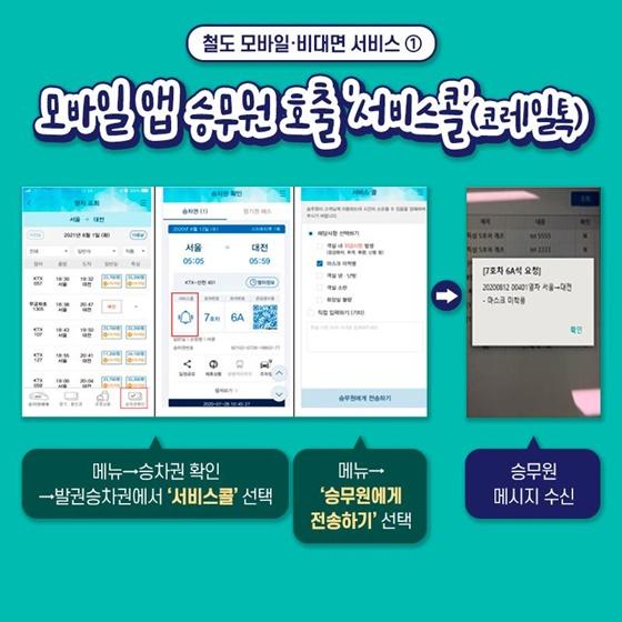 1. 모바일 앱 승무원 호출 '서비스콜'(코레일톡)