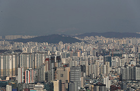 서울시내 아파트 모습