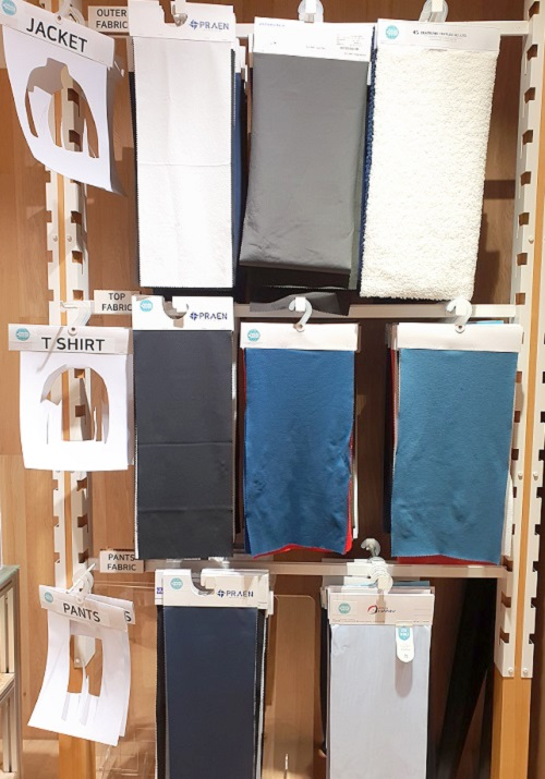 BYN블랙야크 투명페트병으로 자켓, 티셔츠, 바지 등 다양한 색상과 기능성을 추가한 원단을 만들었다.