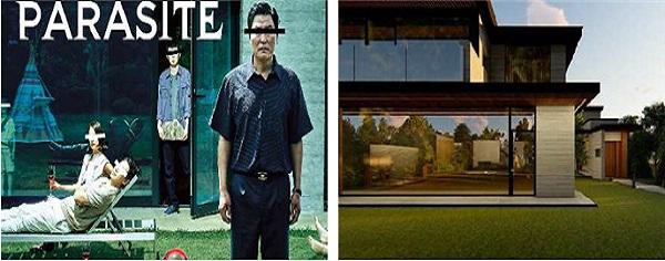 영화 '기생충'을 소재로 영화의 배경인 저택/지하실 공간을 음악과 함께 1인칭 시점으로 체험.