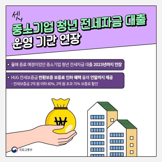 3. 중소기업 청년 전세자금 대출 운영 기간 연장