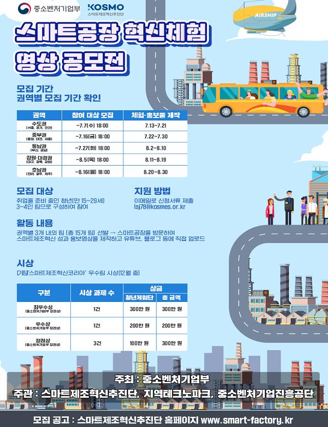 '스마트공장 혁신체험 팸투어' 포스터.