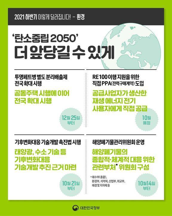 [2021년 하반기 이렇게 달라집니다] 환경 하단내용 참조