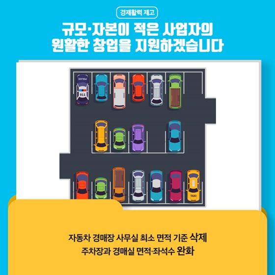 - 자동차 경매장 사무실 최소 면적 기준 삭제