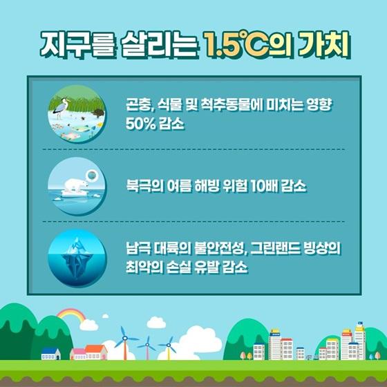 지구를 살리는 1.5℃의 가치