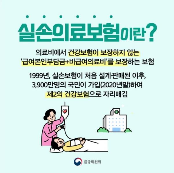 제2의 건강보험으로 자리잡은 실손의료보험.(출처 : 금융위원회)