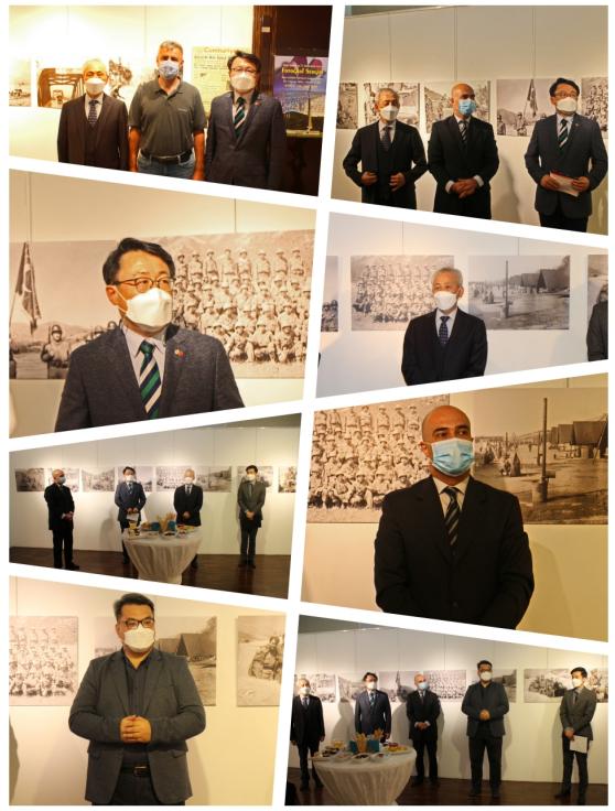 주터키한국문화원 주최 '한국전쟁 71주년 기념 사진전' 개회식 모습.