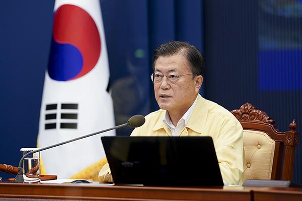 문재인 대통령이 20일 오전 청와대에서 열린 국무회의에서 발언하고 있다. (사진=청와대)