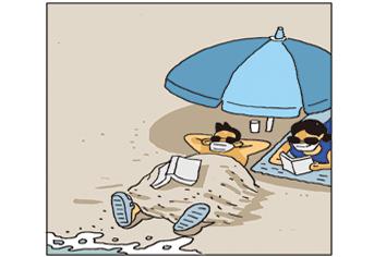 [웹툰] 철저한 방역, 안전한 해수욕장
