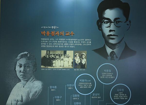 김환태는 1936년 '구인회(九人會)'에 입회, 시문학파 작가들과 교유했는데 그의 부인 박봉자가 용아 박용철의 누이동생이다. 박봉자는 소설가 김유정으로부터 끝없는 구애를 받았던 당대의 재원이었다.