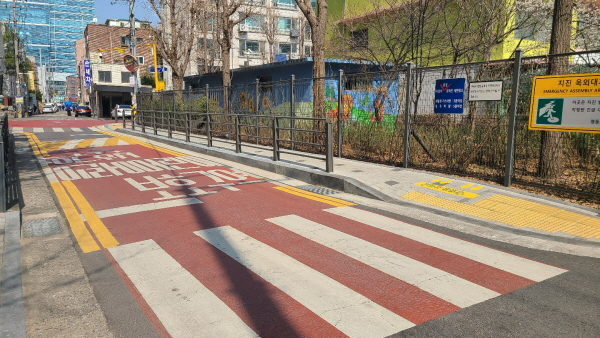 서울 한 초등학교 인근 어린이 보호구역.(사진=대한민국 정책기자단)