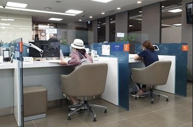 서울시내 한 은행창구 모습. (사진=정책기자단)