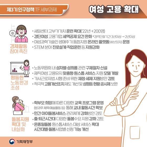 [여성 고용 확대]