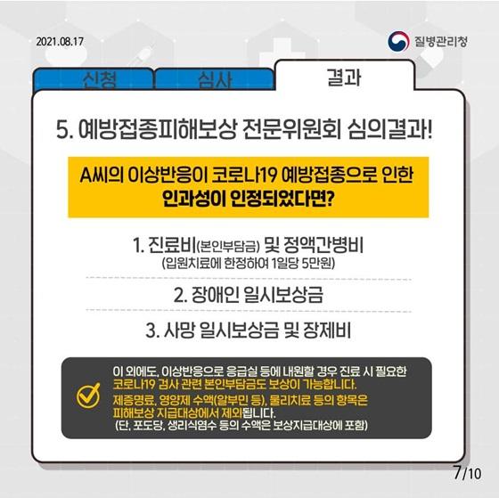 예방접종피해보상 전문위원회 심의결과!