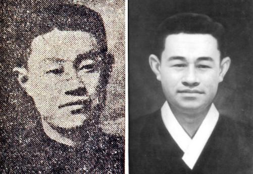 거의 유일하게 남아있는 소월의 사진. 왼쪽은 남강 이승훈이 세운 평북 정주의 오산학교 재학 시절 모습이다. 여기서 평생의 시 스승 김억을 만난다.