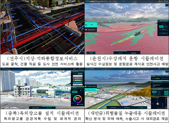 LX한국국토정보공사 디지털 트윈 민간협업사업 서비스 사례(예시).