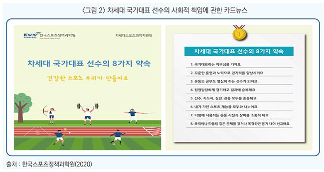 <그림2> 차세대 국가대표 선수의 사회적 책임에 관한 카드뉴스