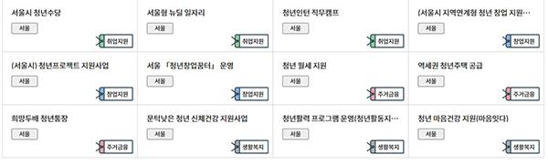 서울지역 핫(HOT) 대표정책 사례