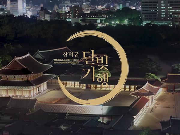 창덕궁 달빛기행 영상은 4K 초고화질로 궁궐의 야경을 보여준다.