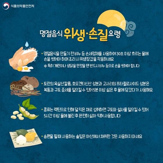 명절음식 위생·손질 요령