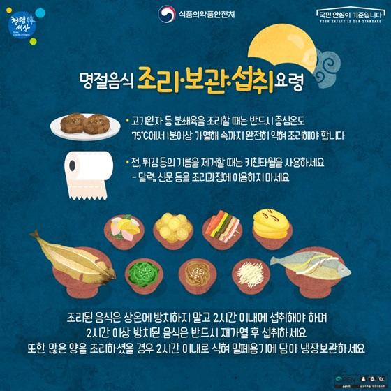 명절음식 조리·보관·섭취 요령