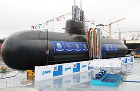 SLBM 장착 첫 독자개발 3000t급 잠수함 '도산안창호함'. (사진=저작권자(c) 연합뉴스, 무단 전재-재배포 금지)